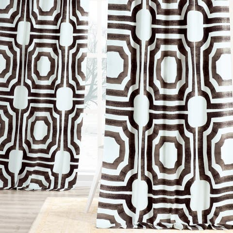 Exclusive Fabrics Mecca Printed Cotton Single Curtain Panel