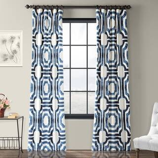 Buy Blue Geometric Curtains Drapes Online At Overstock Our Best
