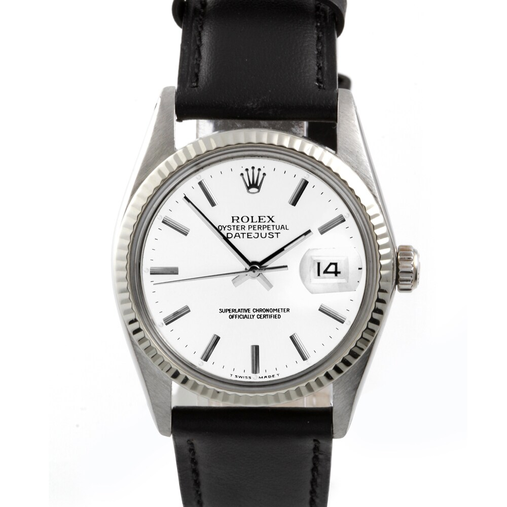 Pre owned Rolex Mens Stainless Steel Datejust Watch