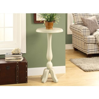 Antique White 16-inch High Veneer Dia Accent Table