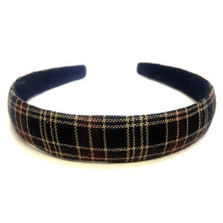 Crawford Corner Shop Navy and Wine 0.75-inch Plaid Headband