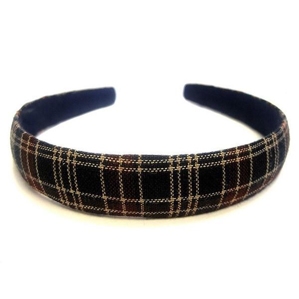 Crawford Corner Shop Navy and Wine 0.75-inch Plaid Headband