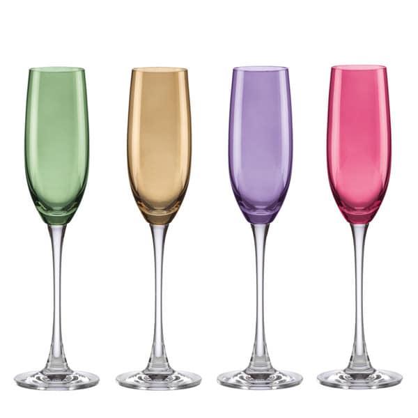 Lenox Tuscany Harvest Crystal Champagne Flute Set