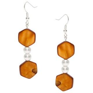 Karla Patin Golden Brown Dangle Earrings