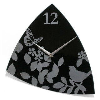 Age of Aviary 14-Inch Glass Open Dial Wall Clock