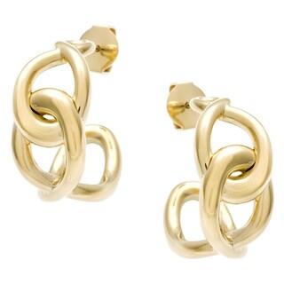 Calvin Klein Yellow Gold Steel Linked Fashion Earrings