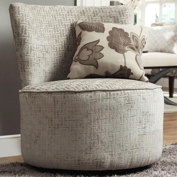 INSPIRE Q Damen Grey Bracket Chain Link Round Swivel Chair