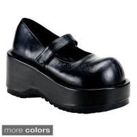 Demonia Women's 'Dolly-01' Black Tall Platform Wedge Shoes