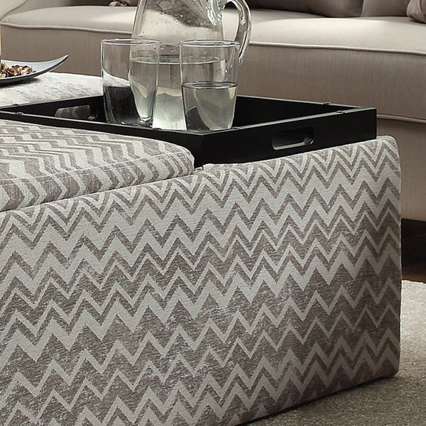 Surprising Shop Montrose Grey Chevron Storage Cocktail Ottoman By Caraccident5 Cool Chair Designs And Ideas Caraccident5Info