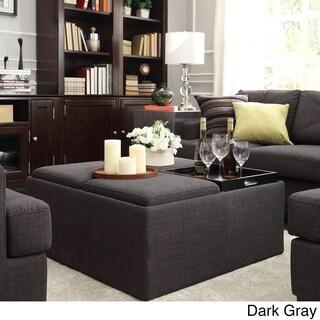 Montrose Dark Grey Storage Cocktail Ottoman by iNSPIRE Q Bold