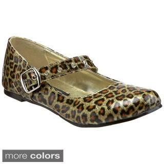 Demonia Women's 'Daisy-04' Patent Faux Leather Cheetah Print Flats