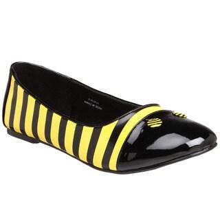 Funtasma Women's 'Bee-16' Bumble Bee Striped Ballet Flats