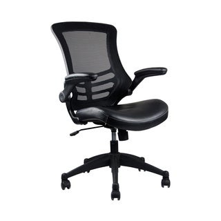 Black Mid-Back Deluxe Mesh Office Chair