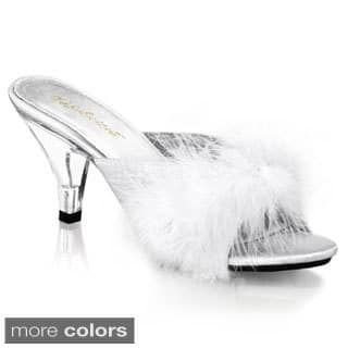 Pleaser Women's 'BELLE-301F' Heel Fur Slip-on Shoes|https://ak1.ostkcdn.com/images/products/8286245/P15606039.jpg?impolicy=medium