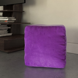 Whitney Faux Suede Beanbag Cube Ottoman Pouf by Christopher Knight Home