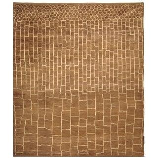Safavieh Hand-knotted Walnut/ Ivory Wool Rug (8' x 10')