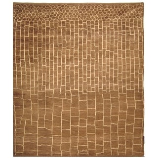 Safavieh Hand-knotted Walnut/ Ivory Wool Rug (9' x 12')
