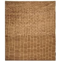 Safavieh Hand-knotted Walnut/ Ivory Wool Rug - 9' x 12'