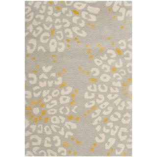 Safavieh Hand-made Capri Grey/ Ivory Wool Rug (3' x 5')