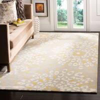 Safavieh Handmade Capri Grey/ Ivory Wool Rug - 8' x 10'