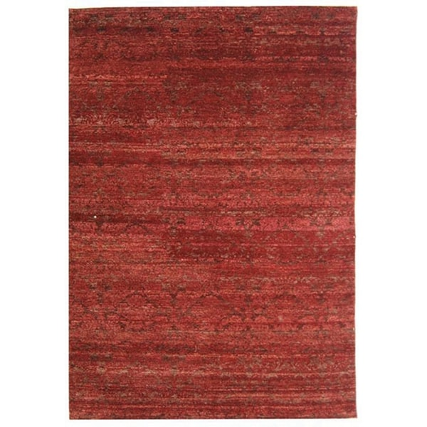 Safavieh Hand-knotted Castilian Red/ Red Wool Rug - 8' x 10'