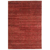 Safavieh Hand-knotted Castilian Red/ Red Wool Rug - 9' x 12'