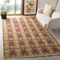 Safavieh Hand-knotted David Easton Lavender Henna Wool Rug - 6' x 9'