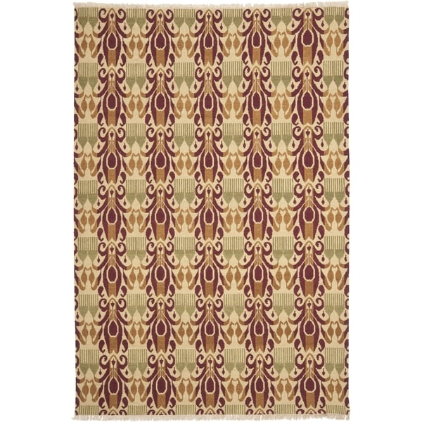 Safavieh Hand-knotted David Easton Lavender Henna Wool Rug - 8' x 10'