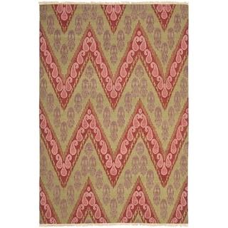 Safavieh Hand-knotted David Easton Mauve Pink Wool Rug (6' x 9')