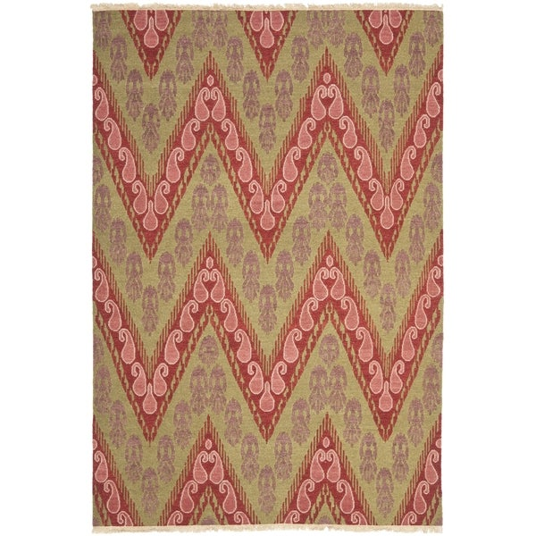 Safavieh Hand-knotted David Easton Mauve Pink Wool Rug - 9' x 12'