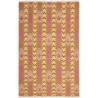 Safavieh Hand-knotted David Easton Pink Amber Wool Rug - 6' x 9'