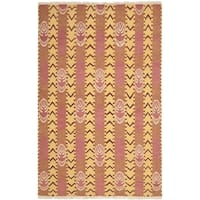 Safavieh Hand-knotted David Easton Pink Amber Wool Rug (8' x 10')