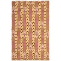 Safavieh Hand-knotted David Easton Pink Amber Wool Rug - 8' x 10'