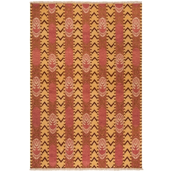 Safavieh Hand-knotted David Easton Pink Amber Wool Rug - 8' x 10'