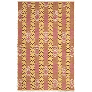Safavieh Hand-knotted David Easton Pink Amber Wool Rug (9' x 12')