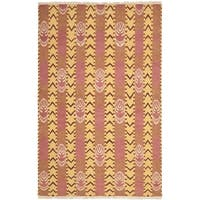 Safavieh Hand-knotted David Easton Pink Amber Wool Rug - 9' x 12'