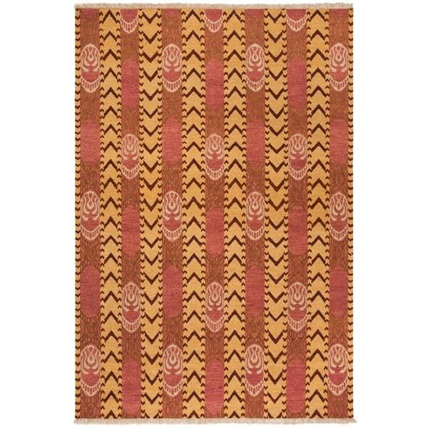 Safavieh Hand-knotted David Easton Pink Amber Wool Rug - 9' x 12'