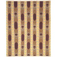 Safavieh Hand-knotted David Easton Root Brown Wool Rug - 6' x 9'