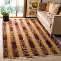Safavieh Hand-knotted David Easton Root Brown Wool Rug - 6' x 9'