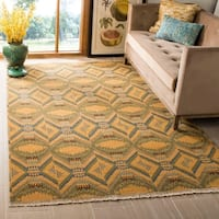 Safavieh Hand-knotted David Easton Saffron Yellow Wool Rug - 6' x 9'