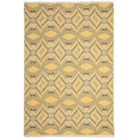 Safavieh Hand-knotted David Easton Saffron Yellow Wool Rug - 8' x 10'