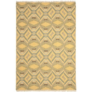 Safavieh Hand-knotted David Easton Saffron Yellow Wool Rug (9' x 12')