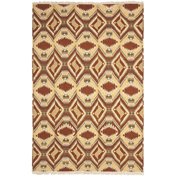 Safavieh Hand-knotted David Easton Paprika Wool Rug - 8' x 10'