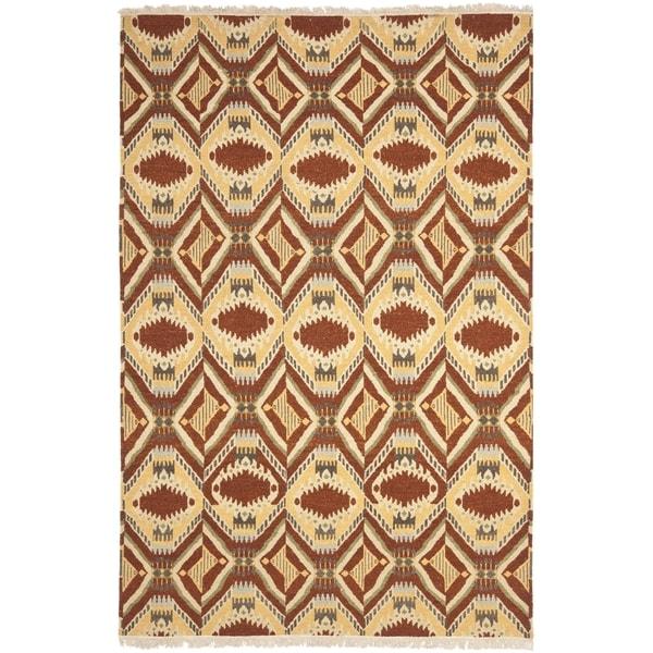 Safavieh Hand-knotted David Easton Paprika Wool Rug - 9' x 12'