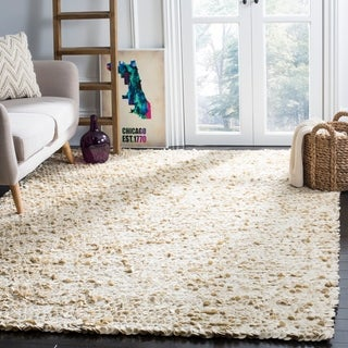 Safavieh Hand-woven Manhattan Ivory Wool Rug (6' x 9')