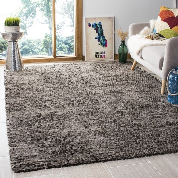 Safavieh Hand-woven Manhattan Grey Wool Rug - 8' x 10'