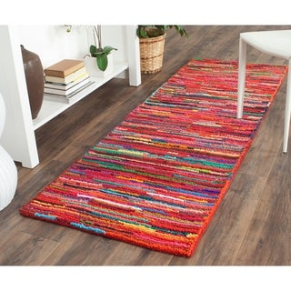 Safavieh Handmade Nantucket Abstract Pink/ Multi Cotton Rug