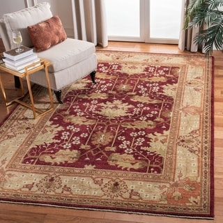 Safavieh Hand-knotted Oushak Red/ Green Wool Rug (10' x 14')