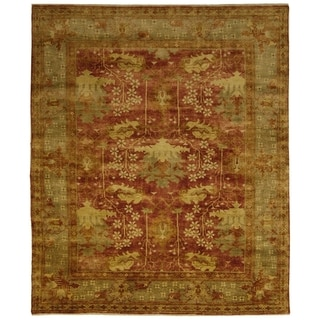 Safavieh Hand-knotted Oushak Red/ Green Wool Rug (9' x 12')