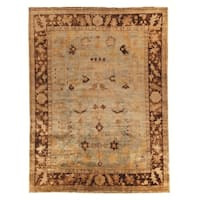 Safavieh Hand-knotted Oushak Soft Green/ Rust Wool Rug - 4' x 6'